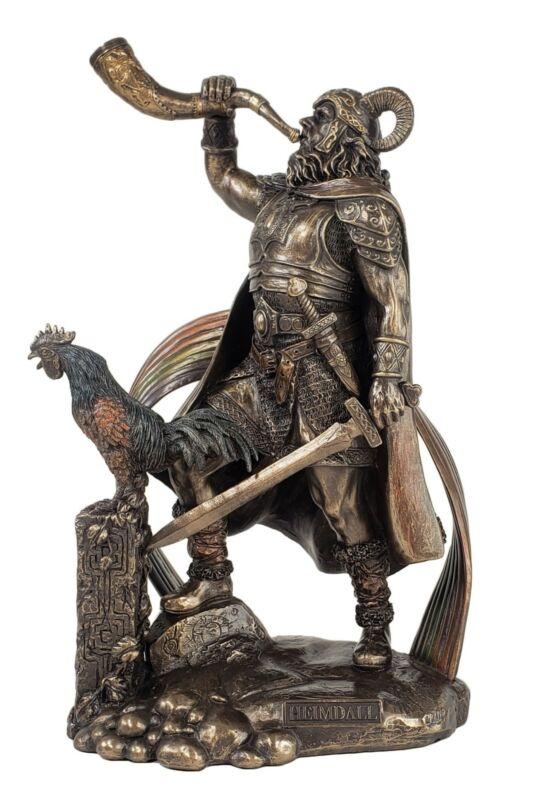 "9 1/2"" Viking Norse Mythology Heimdall Watchman of the Gods Statue Bronze Finish"