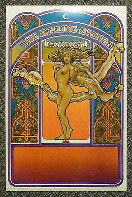 Rolling Stones Altamont 1969 Concert Tour NUDE Poster David Byrd MINT NOS