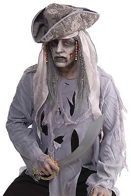 ZOMBIE PIRATE BLACK & DIRTY WIHITE DEAD LOOK WIG COSTUME DRESS FM66620  (Dirty Pirate Costume)
