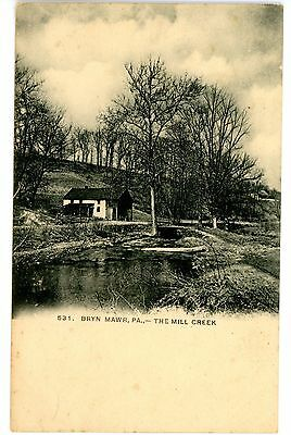 Bryn Mawr Pa   The Mill Creek   Old House   Postcard