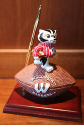 New Wisconsin Badgers Mascot Desk Pen Clock  Set Football NCAA License College