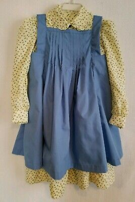 Matching Girls Costumes (Prairie dress with matching bonnet and pinafore, size 6 FREE)
