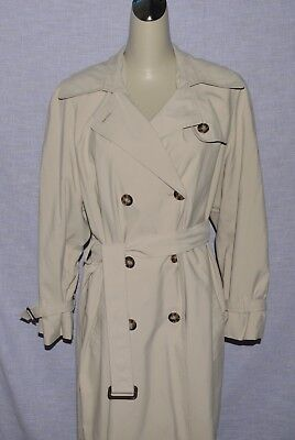ANNE KLEIN II LADIES SZ 6 SMALL loose fit LIGHT BEIGE TRENCH COAT JACKET