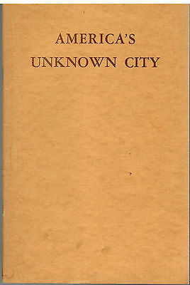 Americas Unknown City Cambridge  Massachusetts 1630 1936   Harvard Trust