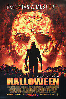 Rob Zombie Halloween Full Movie (Halloween Full Sized Double Sided Poster SIGNED Rob & Sheri Moon Zombie Sid)