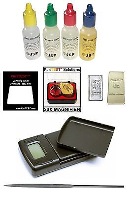 10pcs Gold Testing Kit 1kg/0.1g Gram Jewelry Scale Test S...