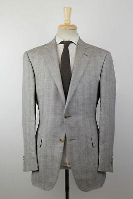 New PAL ZILERI MAINLINE Gray Plaid Wool Blend Sport Coat 50/40 R Drop 8 $1350