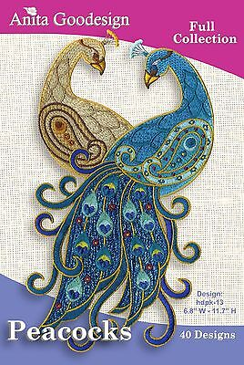 Peacocks Anita Goodesign Embroidery CD Design Full Collections
