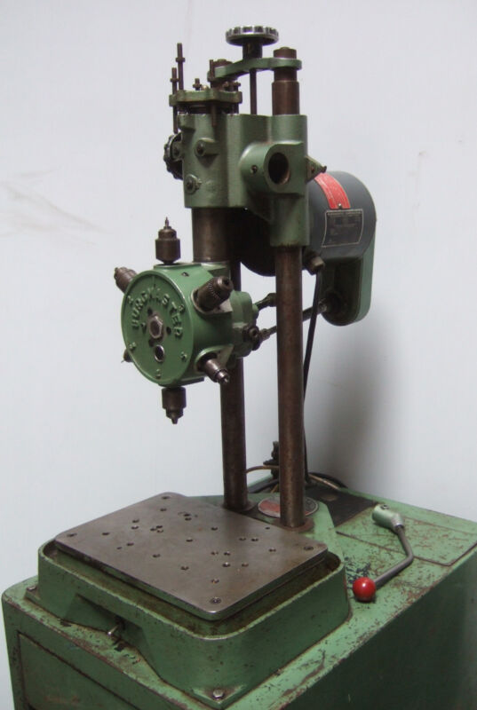 Burgmaster 6 Station Spindle Turret Drill Press 1/3 Hp Model Ob Tapping Drilling