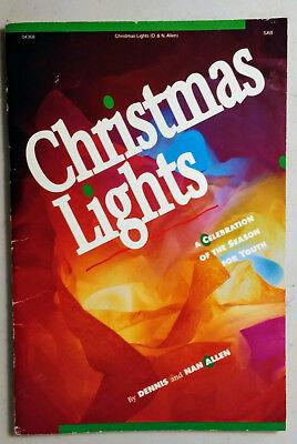 Christmas Lights youth songbook Celebration of the Season Dennis Nan Allen 1989 ()