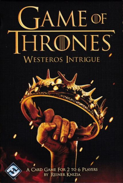 Game of Thrones Westeros Intrigue Card Game- Brand New