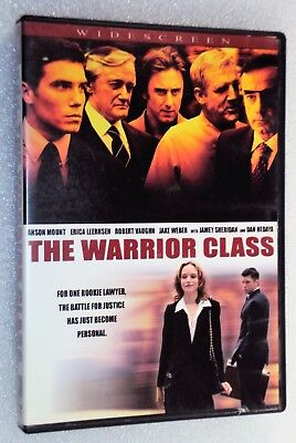 THE WARRIOR CLASS DVD Rookie Lawyer Anson Mount vs. Mafia Boss Jake Weber NR CC