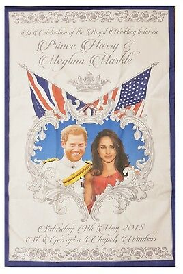 Royal Wedding Tea Towel May 2018 Prince Harry Meghan Markle Souvenir Gift Cotton