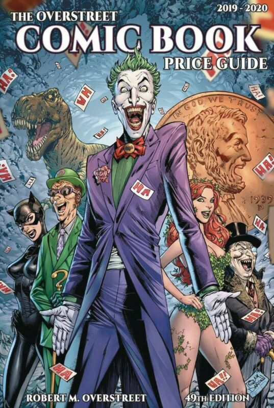 OVERSTREET 2019 2020 COMIC BOOK PRICE GUIDE 49 HARDCOVER Batman Rogues Joker CVR