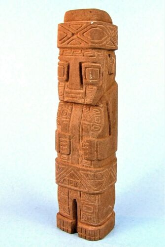 ANCIENT TOLTEC STATUE TULA MEXICO VINTAGE MESO-AMERICAN SANDSTONE SCULPTURE