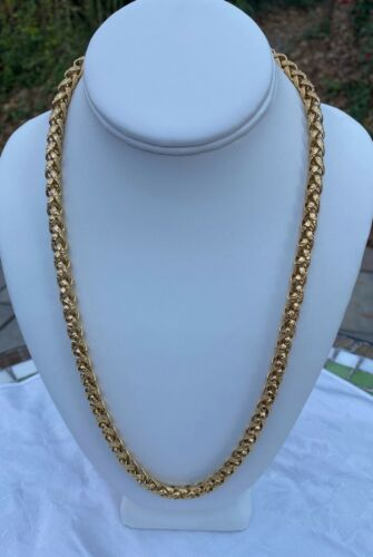 Gorgeous Vintage GIVENCHY Heavy Textured Gold Tone Chain Necklace