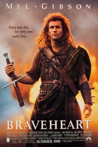 BRAVEHEART (1995) ORIGINAL ADVANCE MOVIE POSTER  -  ROLLED