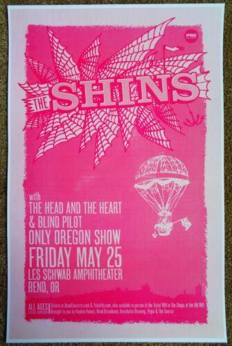 THE SHINS 2012 Gig POSTER Bend Oregon Concert