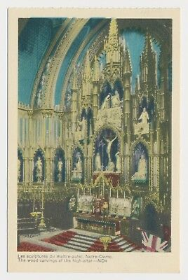 Wood Carvings The High Altar Notre Dame Basilica Montreal Quebec QC PECO c1940 for sale  Canada