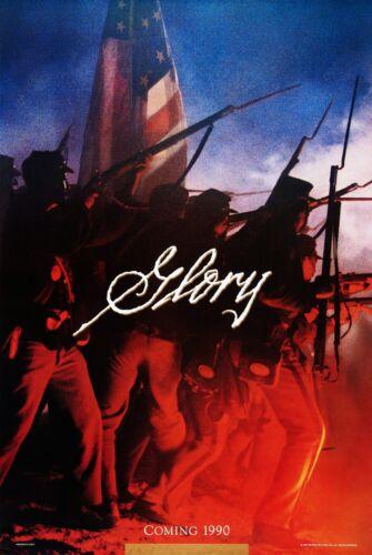 GLORY (1989) ORIGINAL ADVANCE MOVIE POSTER  -  ROLLED