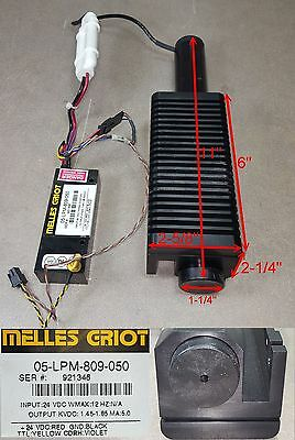 Melles Griot Red 11 Long Laser W 05-lpm-809-050 Power Supply 24vdc