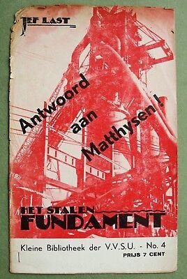 Cas OORTHUYS (attr.) c.1934: Jef Last on Matthysen, VVSU; (rare photo-montage)