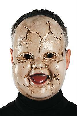 ADULT BABY GIGGLES TODDLER CREEPY HORROR SCARY DOLL MASK COSTUME - Creepy Toddler Costumes