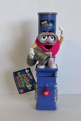 M&M Minis Machine Candy Dispenser Pink Peanut Goggles 2001 #11258 RARE (M&M11) (M&m Minis)