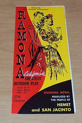 "1964 Advertising Brochure~""RAMONA California's GREATEST Outdoor PLAY""~Hemet~"