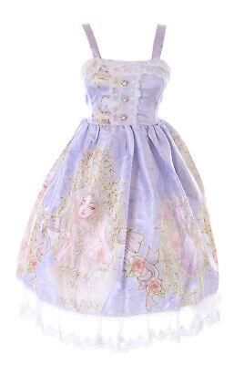 JSK-66-2 Púrpura Princesa Joyas Rosas Tirante Vestido Pastel Goth Lolita Cosplay