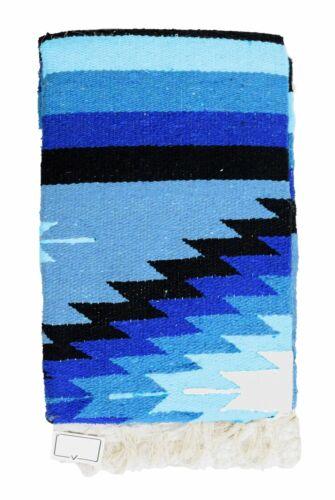 Mexican Blanket Vintage Style Blue Diamond X Large Native Serape Saltillo