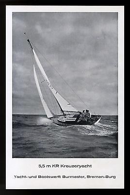 Grosse Werbung 1961 5,5 m KR Kreuzeryacht Boots-Werft Burmester Bremen-Burg