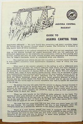1960's 70's Algoma Central Railway Agawa Canyon tour vintage brochure & map b