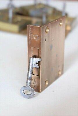 F.KNIGHT & Co Ltd Brass Cut Drawer Till Furniture LOCK 2 3/4
