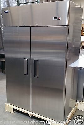 New 2 Door 52 Freezer Solid Stainless Steel Reach In Nsf Atosa Mbf8002gr 1086