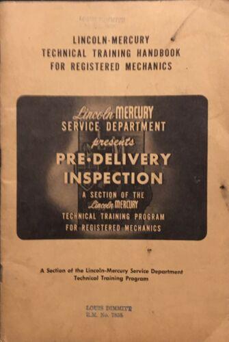 1952 Lincoln – Mercury Technical Training Handbook