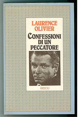 OLIVIER LAURENCE CONFESSIONI DI UN PECCATORE RIZZOLI 1983 CINEMA BIOGRAFIE