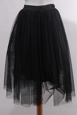 NWT Bailey 44 Black Noir Poly Princess Tutu Tulle Skirt Size S