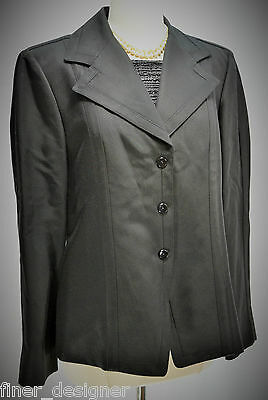 NEW VTG Linda Allard Ellen Tracy Black tailored suit jacket coat blazer Top 12