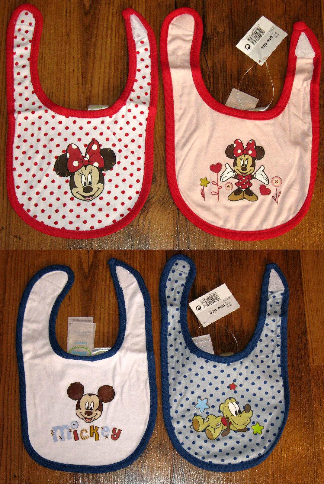 2-er Pack Lätzchen Set für Babies Disney Minie Maus oder Mickey Mouse und Pluto