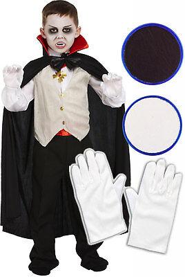 Boys Girls Childs Kids Vampire Dracula Halloween Fancy Dress Costume Outfit 4-12