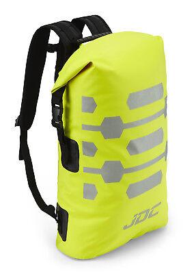 JDC Motorcycle Motorbike Rucksack 100% Waterproof Dry Bag 30L Hi-Vis - Yellow
