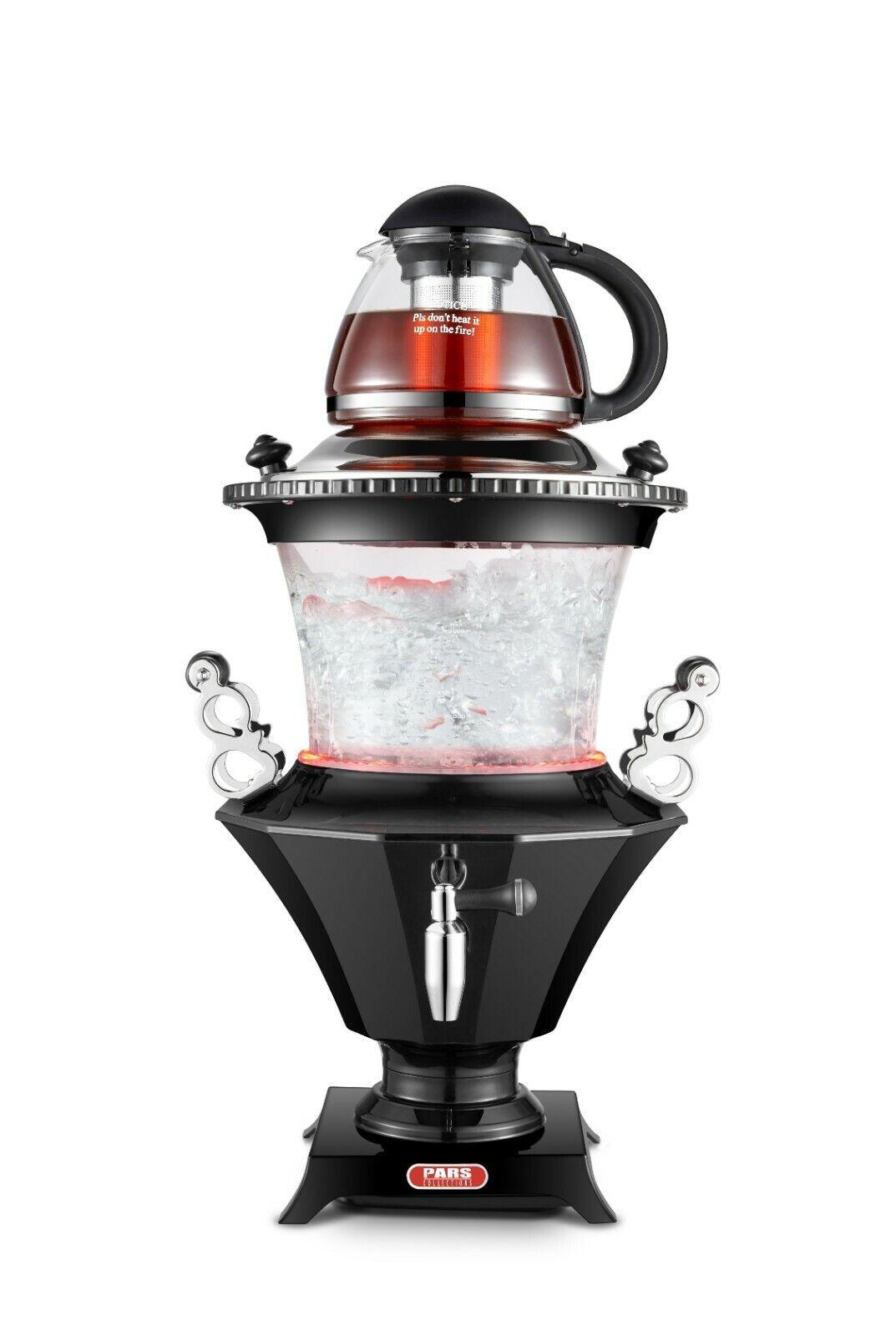 New 2019 Modern Electric Glass Samovar Tea Maker, Stainless