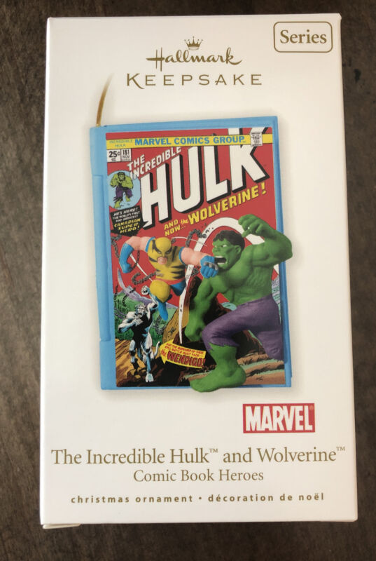 2010 The Incredible Hulk and Wolverine #3 Hallmark Comic Book Heroes Ornament