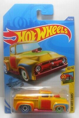 HOT WHEELS 2020 TREASURE HUNT CUSTOM '56 FORD TRUCK K CASE TH ART CARS MOC