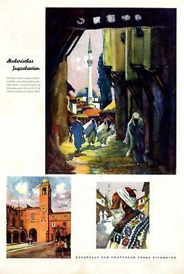 Malerisches Jugoslawien XL Seite mit Kunstdrucken 1938 Sarajevo Ragusa Kienmayer