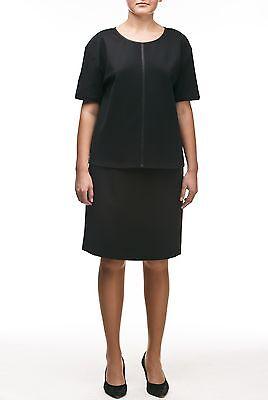 UNQ Damen Pensil Rock ohne Bund NEU Schwarz Bleistiftröcke Knielang 60 cm