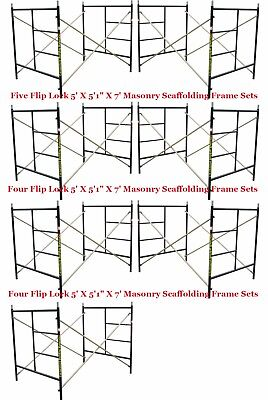 Seven Set New Flip Lock 5 X 51 X 7 Masonry Scaffold Frame Set Cbmscaffold