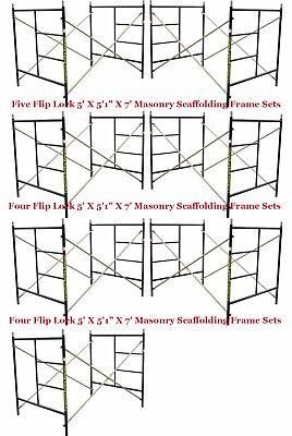 "Seven Set New Flip Lock 5' X 5'1"" X 7' Masonry Scaffold Frame Set CBM SCAFFOLD"