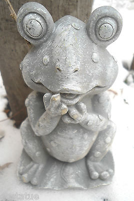 Latex Frog - Latex only MOLD frog w hands on mouth plaster concrete mold